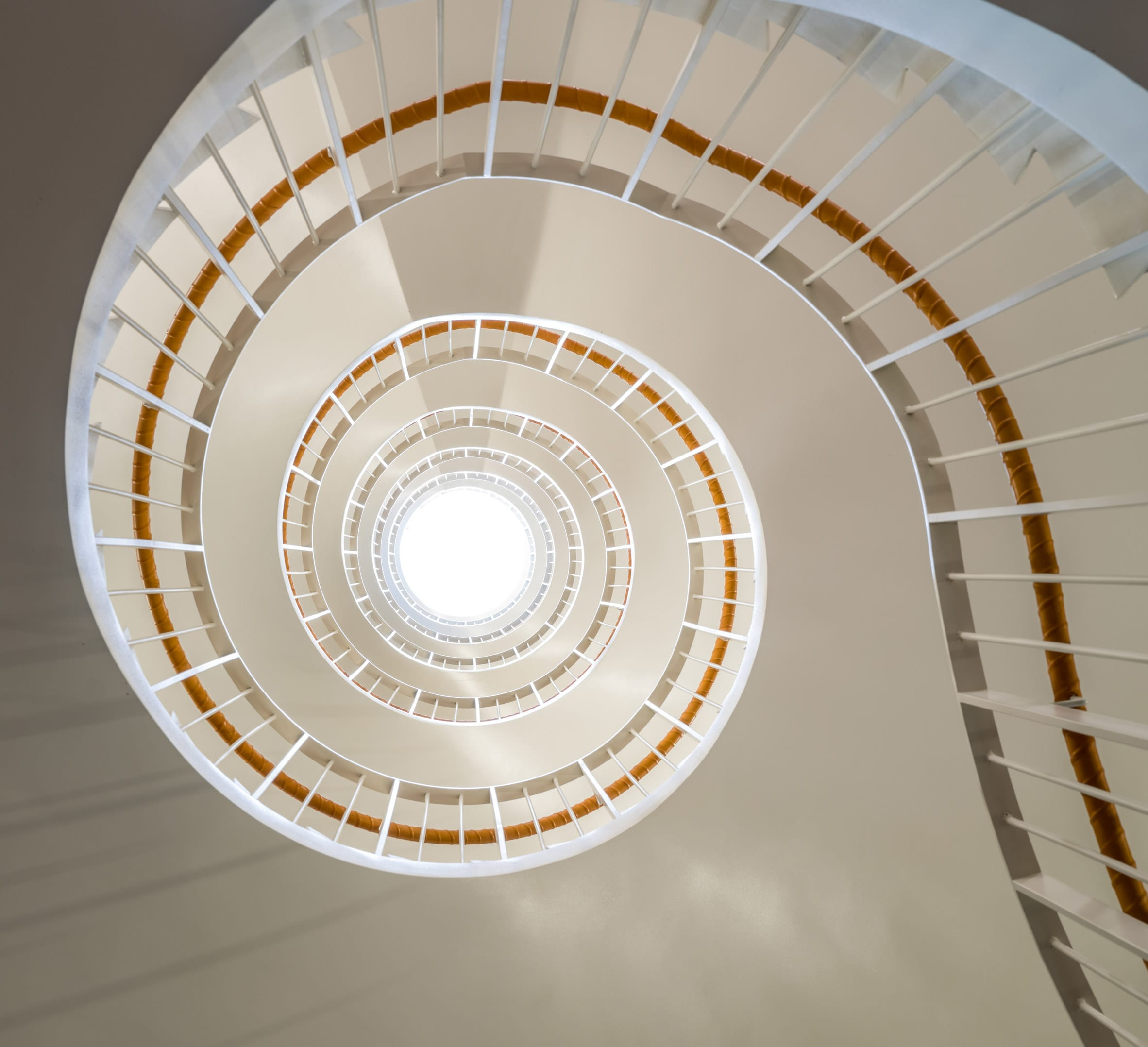 The stairwell has a glass roof at the Nybrogatan 17 office block