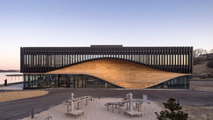 The main elevation of the Klimatorium in Denmark