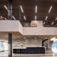 The interiors of the Klimatorium in Denmark