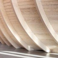 The wooden interiors of Klimatorium