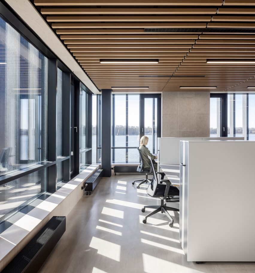 A workspace inside the Klimatorium