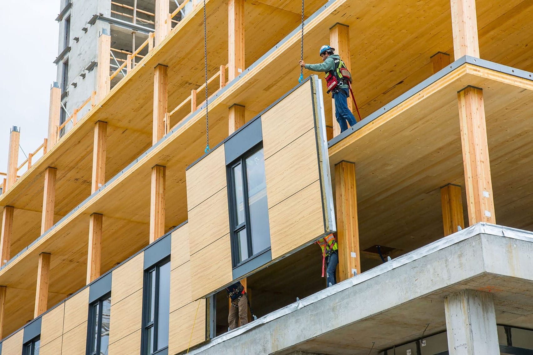Construction of Brock Commons Tallwood House by Acton Ostry Architects