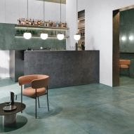 Foil tile collection by Ceramiche Refin interprets the appearance of natural metals