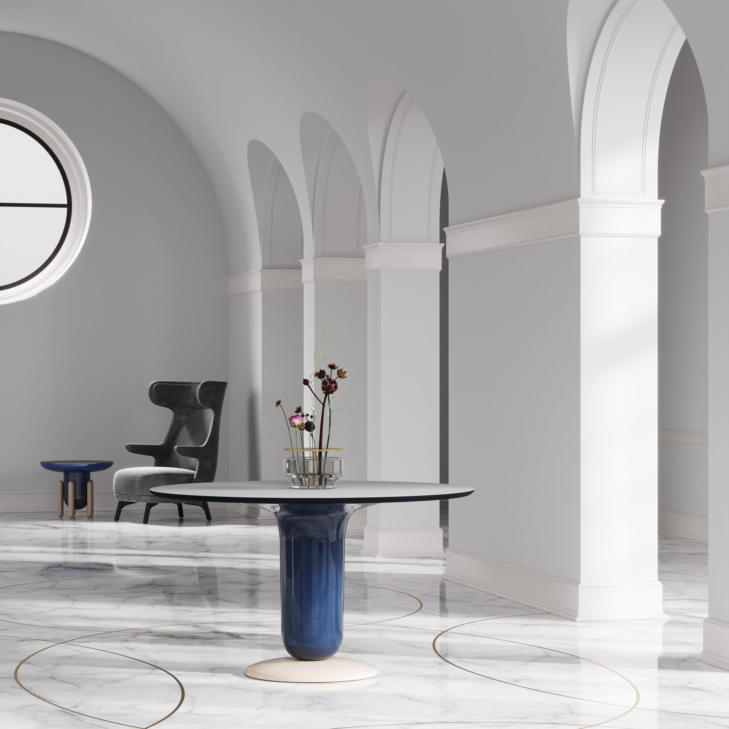 Explorer dining table by Jaime Hayon for BD Barcelona