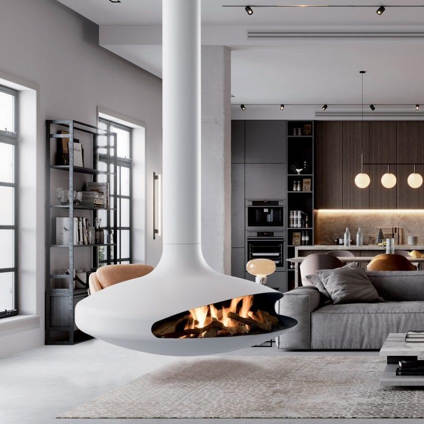 Gas Gyrofocus fireplace by Focus