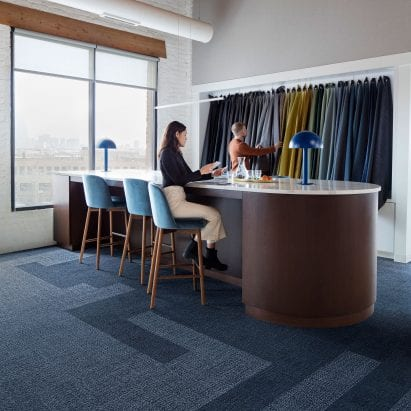 Embodied Beauty carpet by Interface in indigo