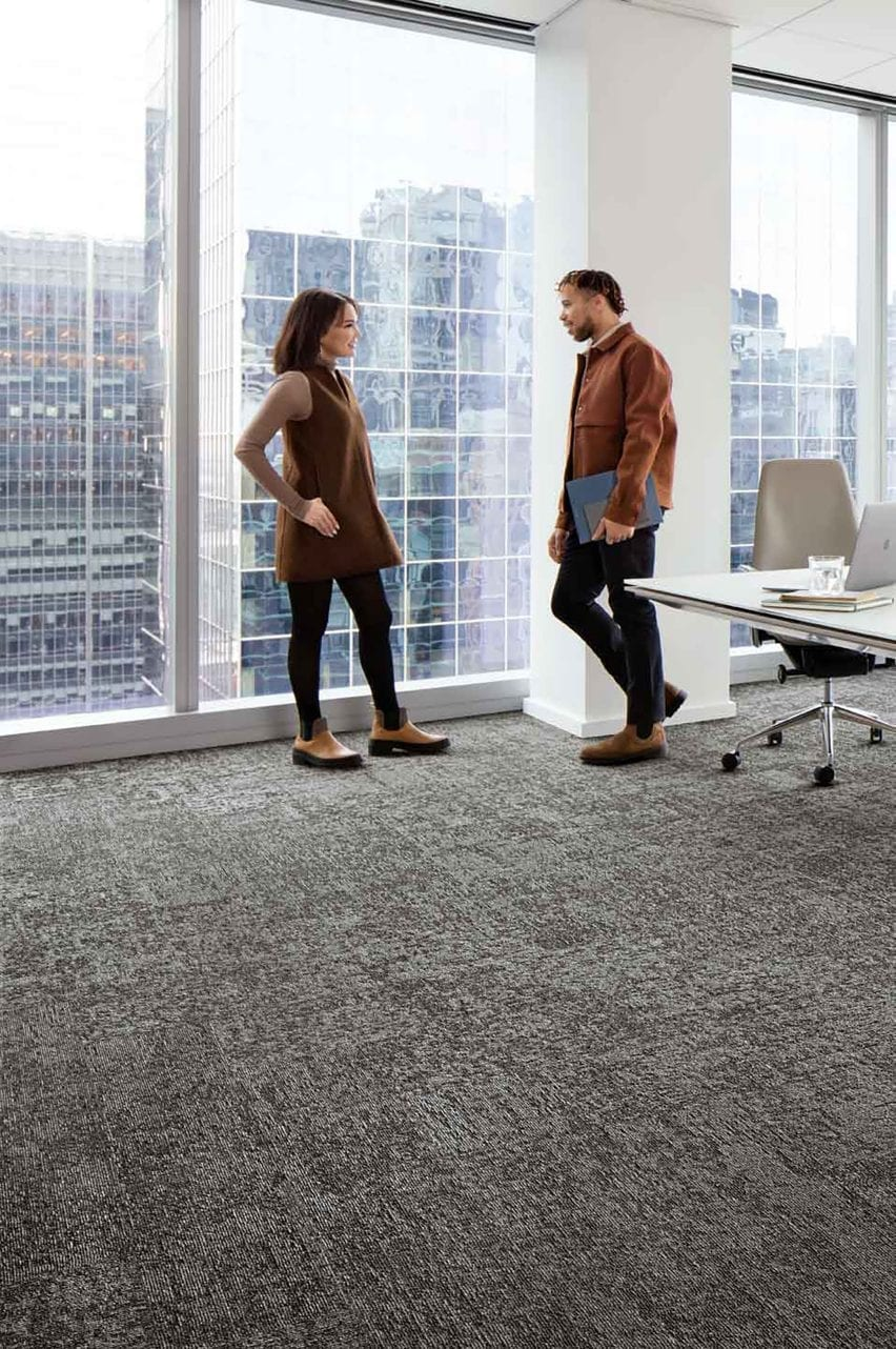 Embodied Beauty carpet by Interface in ash