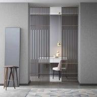 Koan sliding door system by Kokaistudios for Lualdi