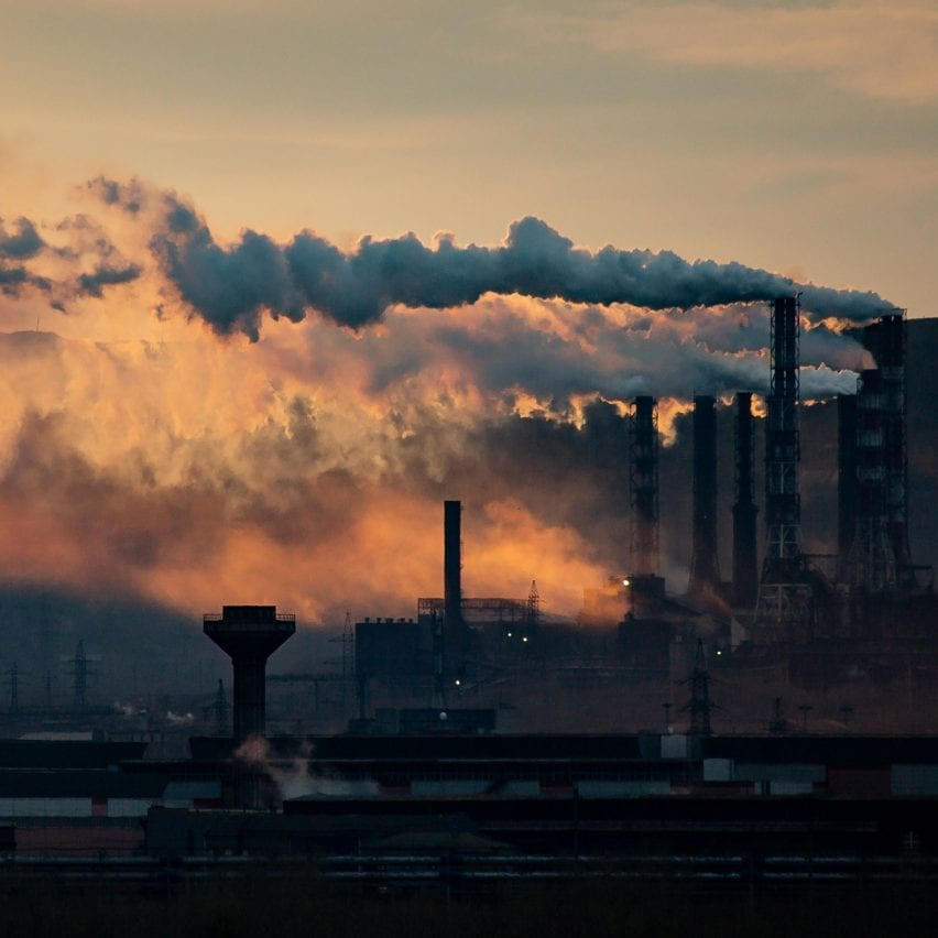 Pollution from a steel and iron works