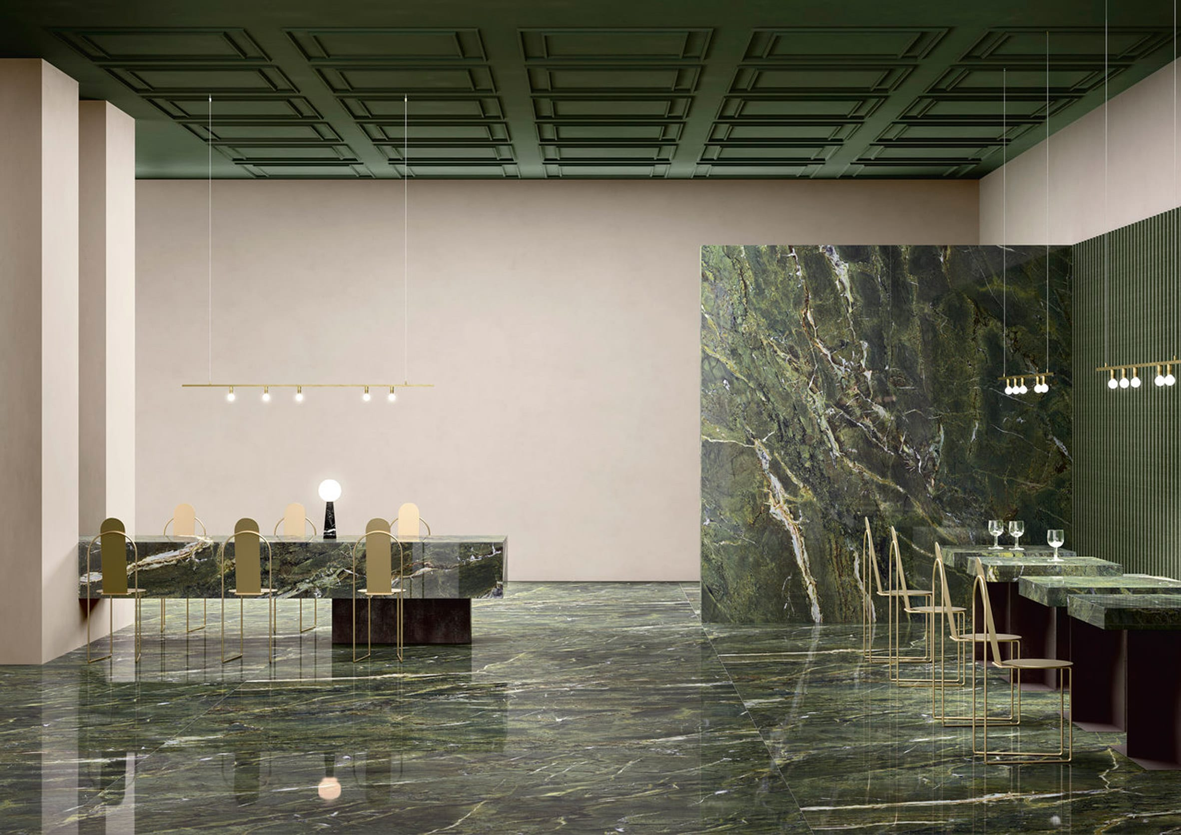Maximum Marmi Verde Fantastico tile by Fiandre