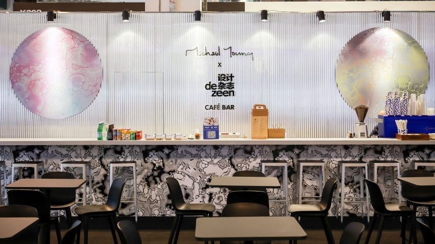 Michael Young x Dezeen cafe and bar at Design Shanghaiv
