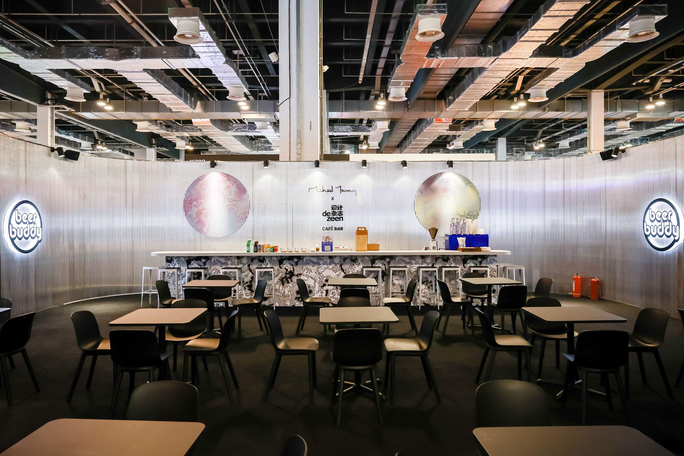 Michael Young x Dezeen cafe and bar at Design Shanghai