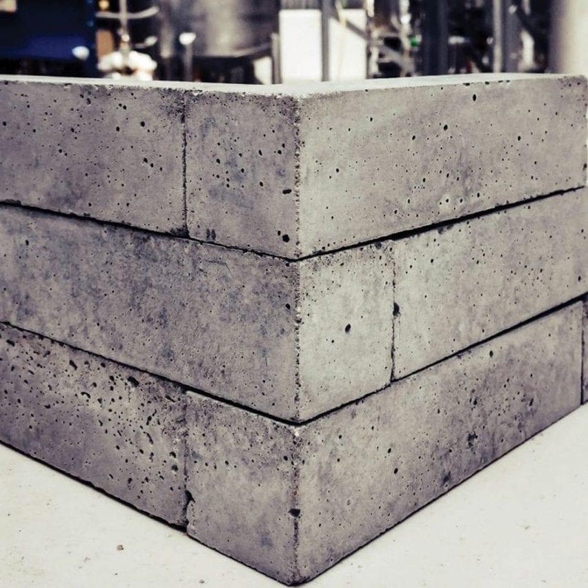 Mineral carbonation concrete bricks made using carbon emissions