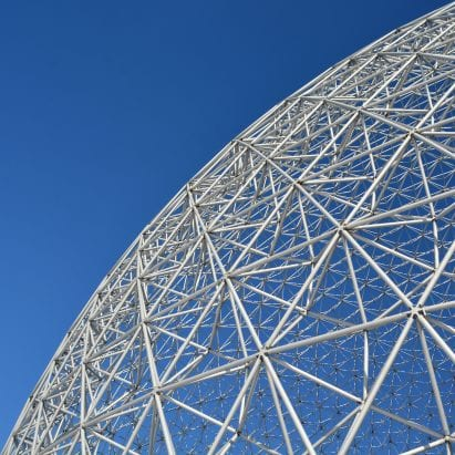 Geodesic dome at the Montreal Biosphere by Buckminster Fuller