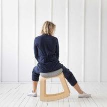 Muista balancing chair by Aurimas Lazinkas