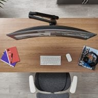 Ollin curved screen monitor arm by Colebrook Bosson Saunders