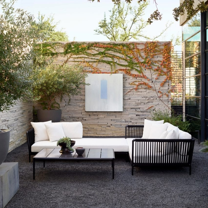 Otti modular outdoor seating by Vincent Van Duysen for Sutherland Furniture
