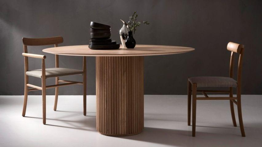 Palais Royal table by Anya Sebton and Eva Lilja Löwenhielm for Asplund