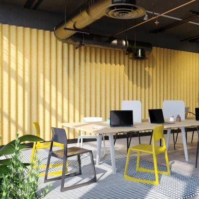 Swell acoustic wall cladding by Jones & Partners for The Collective Agency