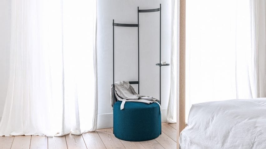 Tilda coat rack and pouf by Schonbuch