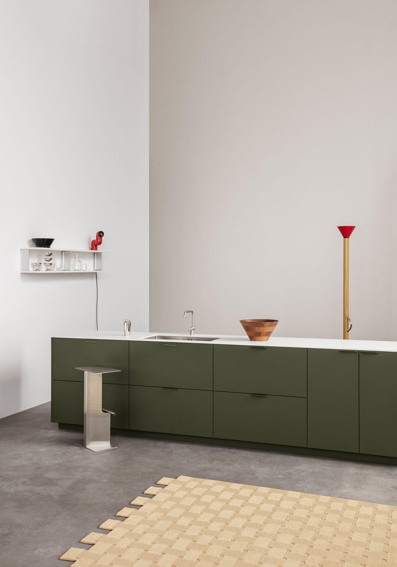 Green Unit kitchen by Reform