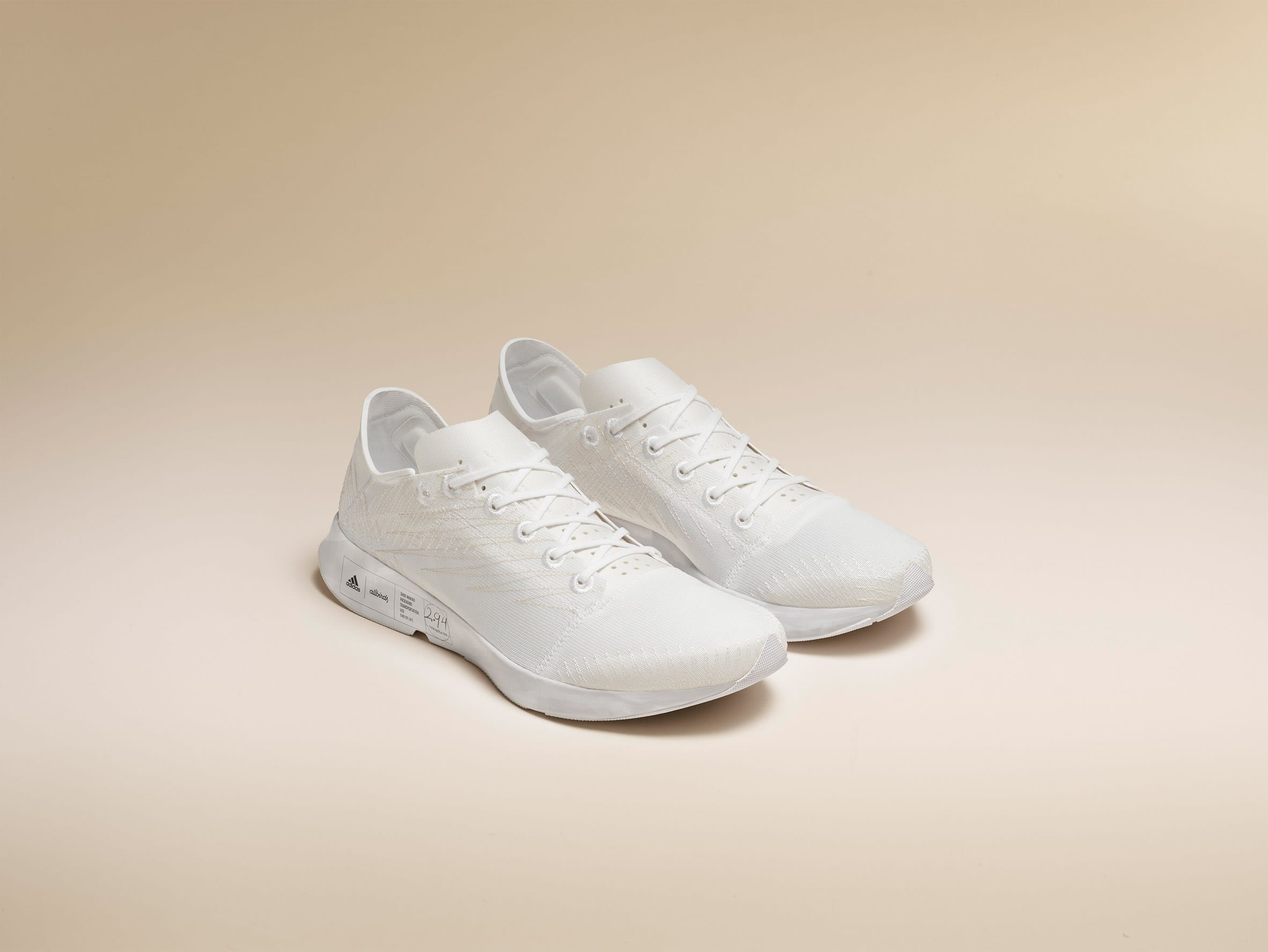 Low-carbon trainers by Adidas and Allbirds
