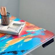 Autonomous imprints standing SmartDesks with colourful artworks
