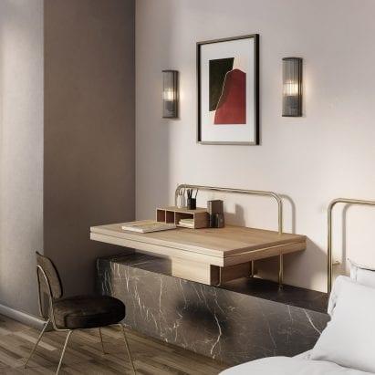 Avignon Wall Light in hotel room