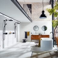 Water-saving and temperature-controlled bathroom products from Axor feature on Dezeen Showroom