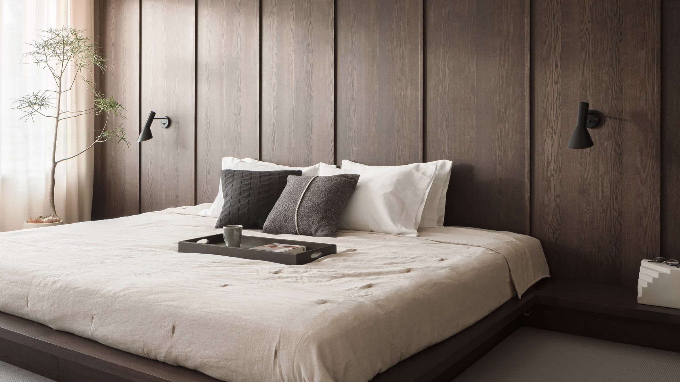 Bedroom of Azabu Residence in Tokyo