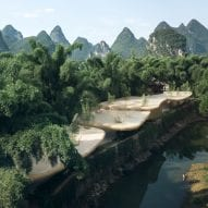 Undulating bamboo canopy by LLLab evokes its mountainous surroundings