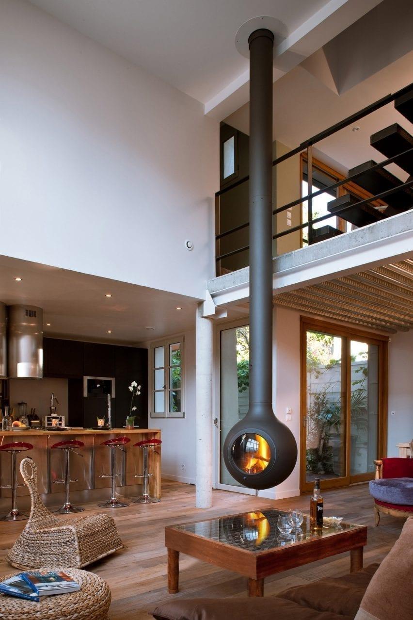 Bathyscafocus Hublot fireplace by Focus