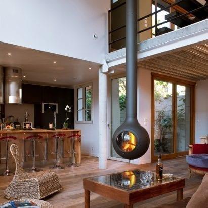 Bathyscafocus Hublot fireplace by Focus dezeen showroom