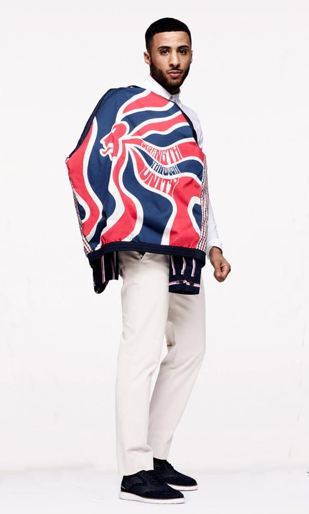 Lion detail on jacket lining