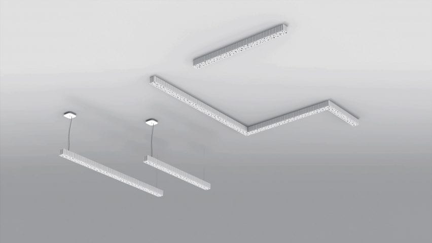 A selection of white ceiling lights