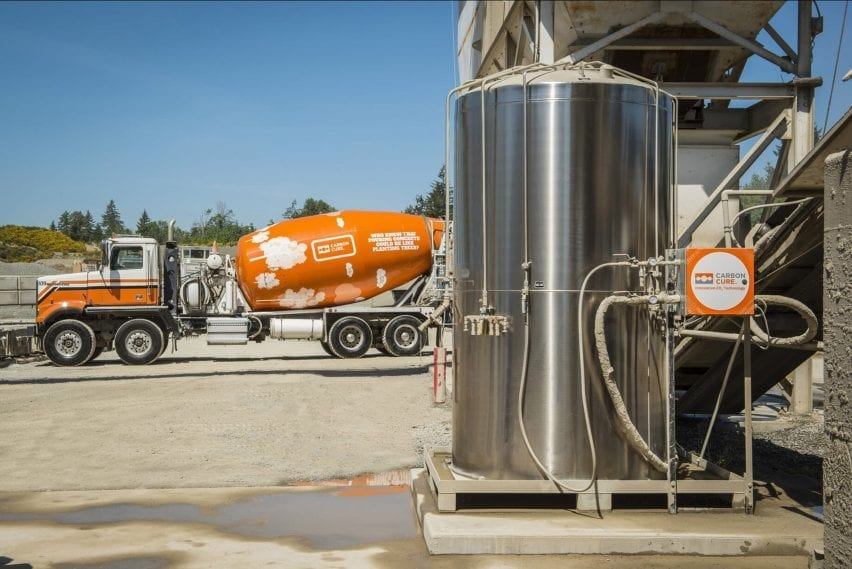 CarbonCure technology at a cement factory