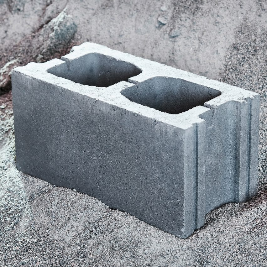 Concrete masonry unit by Carbicrete made with captured carbon
