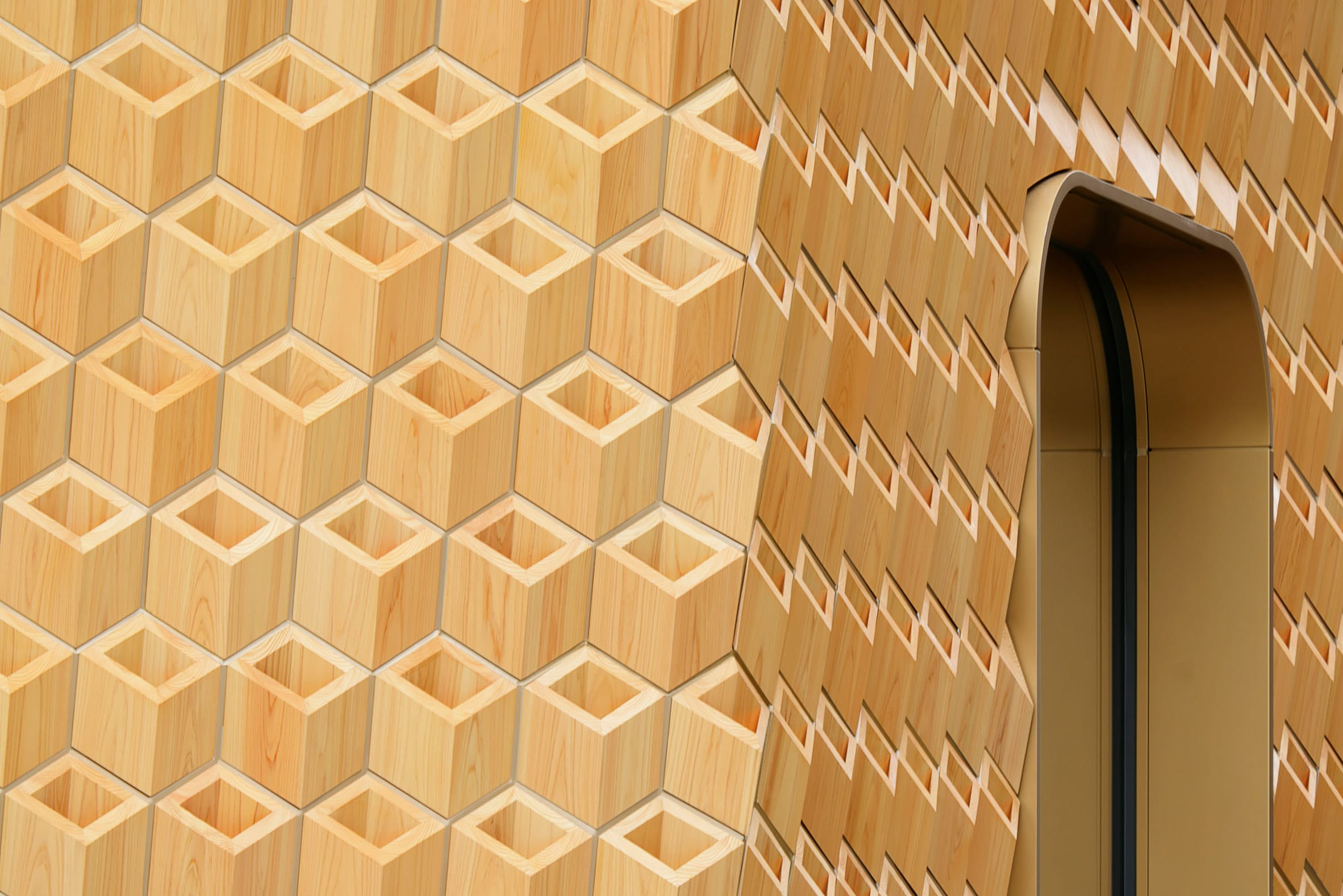 Klein Dytham Architecture created interlocking units for the facade