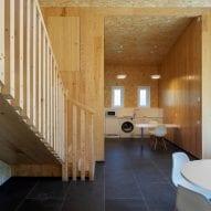 It has a wood interior