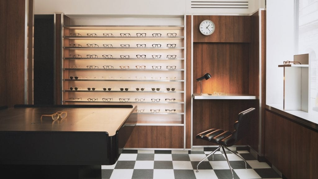 Child Studio channels Soho's peep show booths for Cubitts eyewear store
