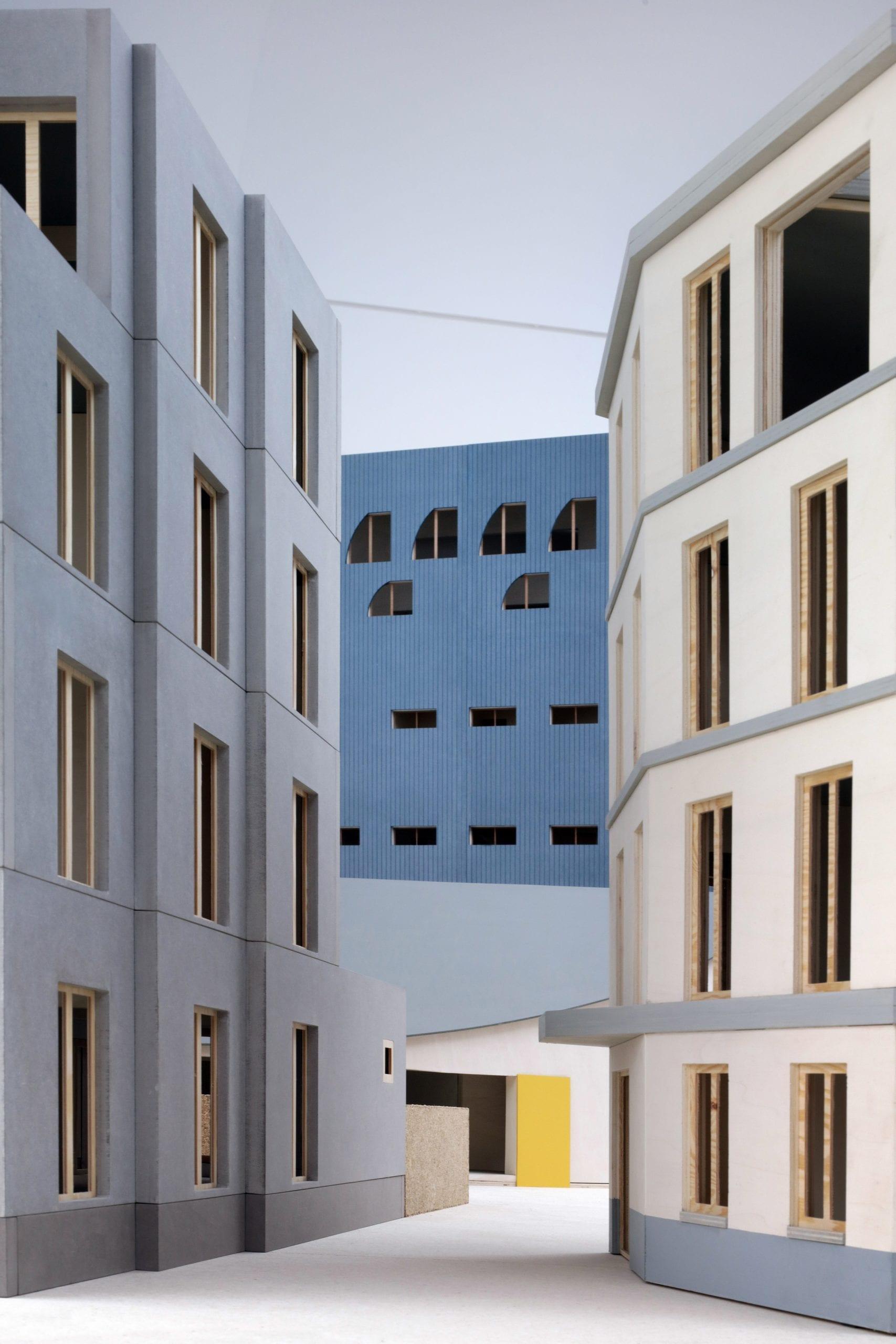 Edificios de ciudades flamencas en el Pabellón de Bélgica