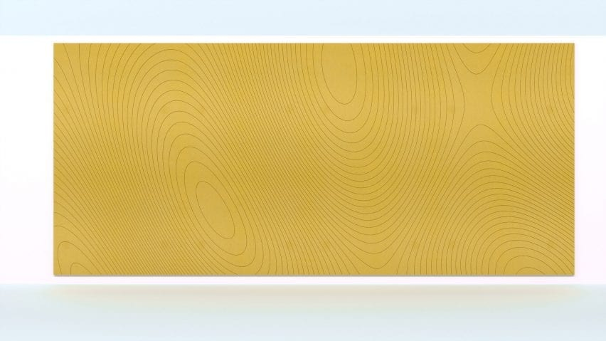 Contour acoustic panel by Jeffrey Ibanez for Impact Acoustic in yellow