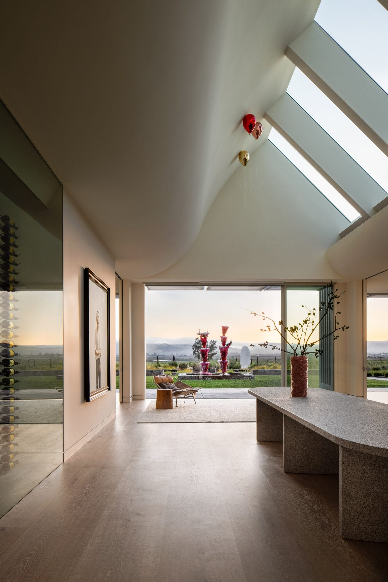 Skylights feature in the Donum Home's great room
