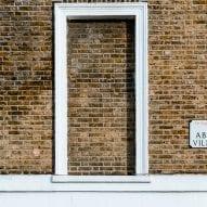A bricked-up window