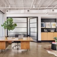 Office interior with plant