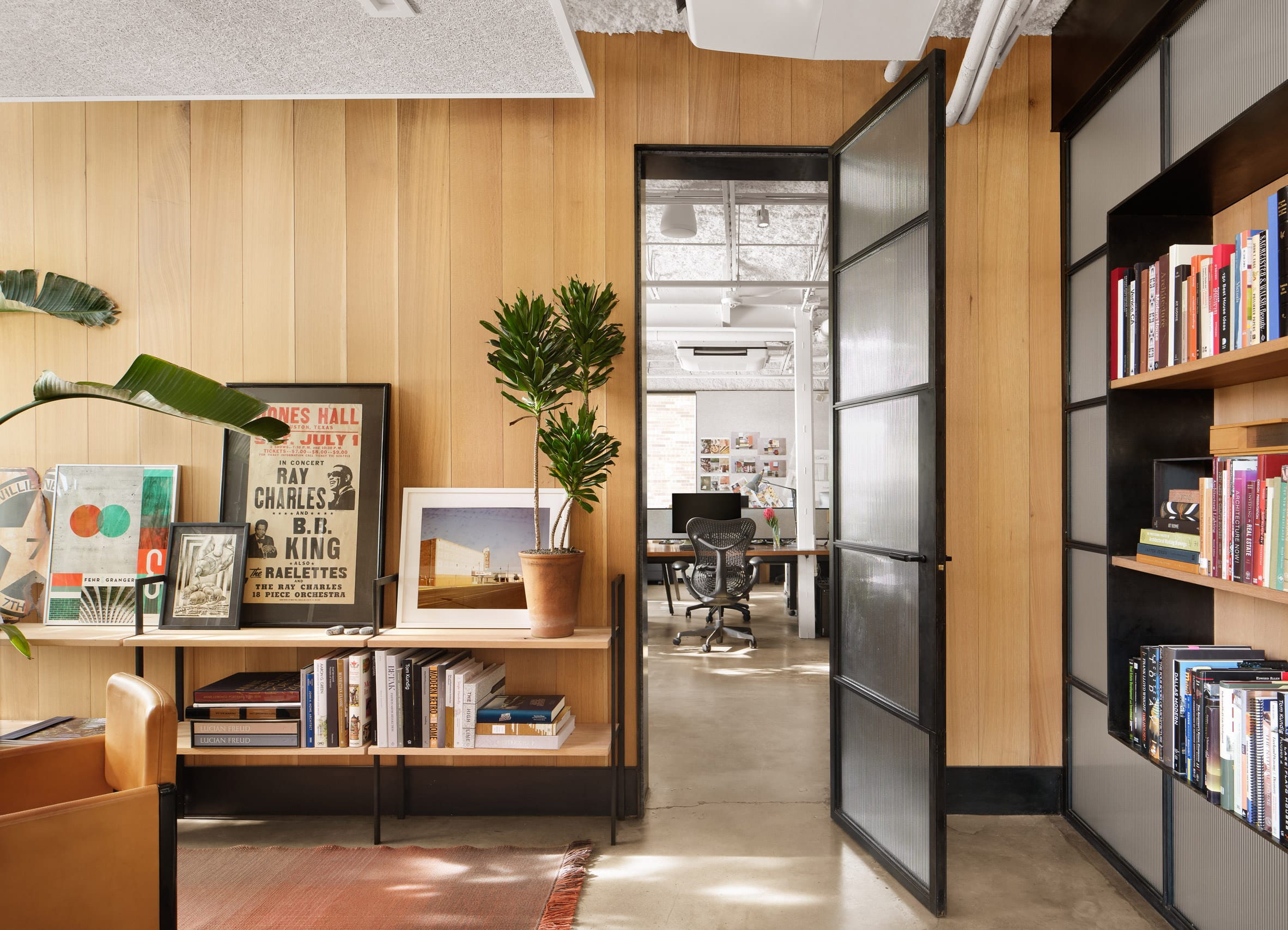 Wood-clad office interior