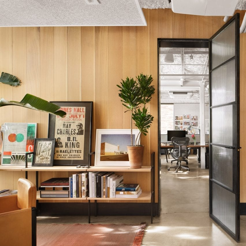 Wood-panelled office in Texas