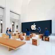 The latest Apple store features in today's Dezeen Weekly newsletter