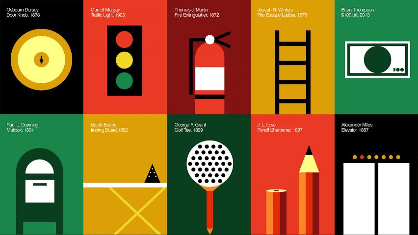 Illustrations of historic design by Black designers