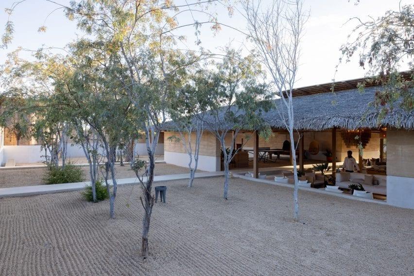 Open hotel and terrasse in El Perdido Hotel